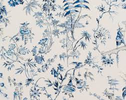 chinoiserie wrapping paper chinoiserie fabric etsy