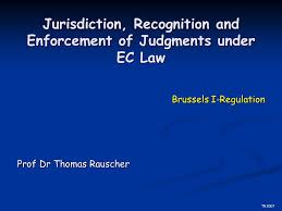 Council Regulation Ec No 44 2001 Brussels Jurisdiction Recognition And Enforcement Of Judgments Ec