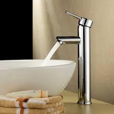 bathroom faucet beatifaucet modern single handle deck mount tall spout bathroom vessel sink faucet chrome finish