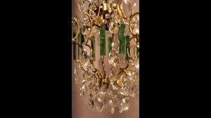 Art Nouveau Chandelier Vintage Antique Crystal 19th Century Art Nouveau Chandelier French