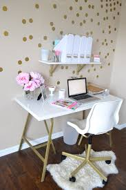 My Gold Desk All Things Pink And Pretty Home Decor Part Two My Mini Office