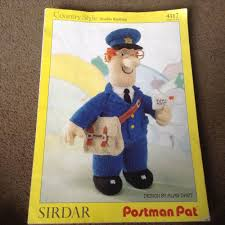 postman pat toy sirdar knitting pattern 4117 by alan dart alan