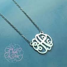 Single Initial Monogram Necklace 14k White Gold Plated Single Initial Monogram Https Www Com