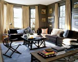 black livingroom furniture living room wall colors for with brown rug and black chairs