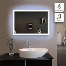Bluetooth Bathroom Mirror 50x70cm Bath Mirror In Bathroom Bluetooth Illuminated Led Piegel