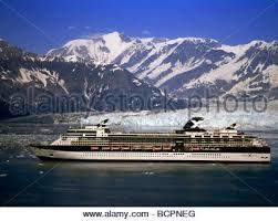 the cruise ship infinity at hubbard glacier stock photo royalty