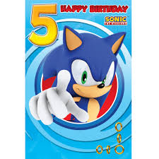 sonic the hedgehog happy 5th birthday card with envelope ebay