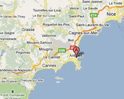 map of antibes seaside rentals antibes juan les pins