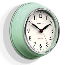 Mint Green Kitchen Accessories by Newgate Cookhouse Wall Clock Kettle Green