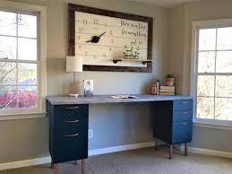 Diy File Cabinet Desk Home Office Makeover Part 5 The Diy File Cabinet Desk And