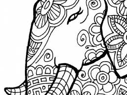 coloring pages adults printable elephant complex flower