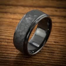 black zirconium wedding bands men s wedding band comfort fit interior hammered black