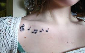 music notes collarbone tattoo design of tattoosdesign of tattoos