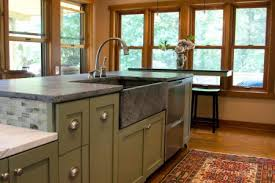 French Kitchen Sinks by Granite Countertop Clogged Double Kitchen Sink Sensor Faucet