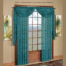 Peacock Blue Sheer Curtains King Peacock Sheer Curtain Panel