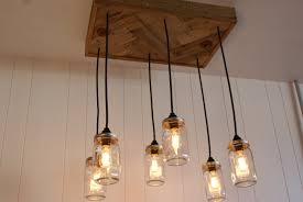 decor u0026 tips cool jar edison bulb chandelier with reclaimed