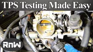 how to test a throttle position sensor tps with or without a