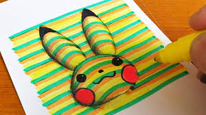 coloring pages pikachu how to draw 3d pikachu pokémon coloring pages learning