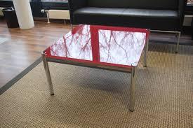 Wohnzimmertisch Transparent Usm Haller Couchtisch 75x75 Cm Wohnzimmertisch Couch Tisch Rot