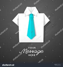 white origami shirt tie vector template stock vector 438324607