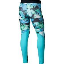 Light Blue Tights Nike Pro Girls U0027 Printed Tights Light Blue Fury Polarised Blue