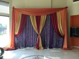Plum Home Decor by Plum Gold Burgundy U0026 Orange Backdrop With Crystal Curtains Home