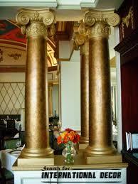 pillars in home decorating interior columns wraps ideas modern fly condos toronto mirrored