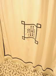 Monogram Shower Curtains Meet Me In Philadelphia My Custom Monogrammed Shower Curtain
