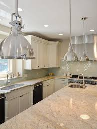 awesome chromed industrial kitchen island pendant lighting