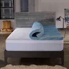 Sleep Innovations Touch Of Comfort Sleep Innovations 2 5 In Queen Gel Swirl Memory Foam Mattress Pad