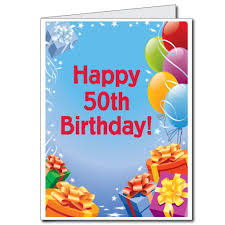 amazon com 2 u0027x3 u0027 giant presents and balloons 50th birthday card