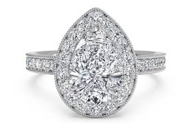 diamond shaped rings images Trending pear shaped engagement rings ritani jpg