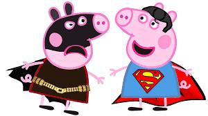 peppa pig transforms dc comics batman u0026 superman fun