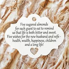 italian wedding favors new wedding favor tags almond italian wedding favor tags by kraftcuts