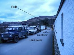 land rover overland we visit the remotest pub in scotland scotland overland