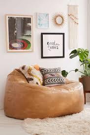 Brown Leather Bean Bag Chair Best 25 Huge Bean Bag Chair Ideas Only On Pinterest Huge Bean
