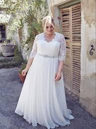 discount vestidos de noivas para casamento plus size half sleeves