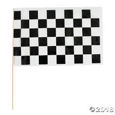 Plastic Flags Medium Plastic Black U0026 White Checkered Racing Flags