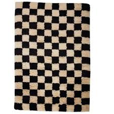 Black And White Modern Rug Aelfie Checkerboard Black And White Shag Modern Geometric