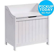 Argos Garden Bench Home Monks Bench Style Laundry Box White From The Official
