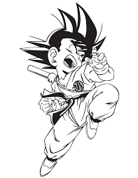dragon ball gt kid goku coloring u0026 coloring pages