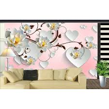brick wallpaper picture more detailed picture about romantic romantic lotus on heart floral 3d room photo wallpaper natural brick wallpaper murals for wall 3
