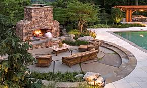 Backyard Ideas On A Budget Patios by Paver Patio Designs With Fireplace Patio Decoration