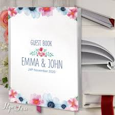 large wedding guest book handmade personalised large wedding guest book beautiful