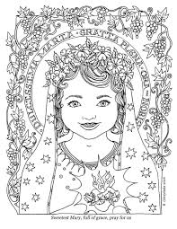 our lady u0027s birthday coming on sept 8th catholic coloring pages
