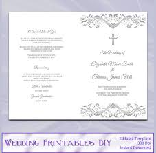 catholic wedding program templates 30 images of catholic wedding program template microsoft