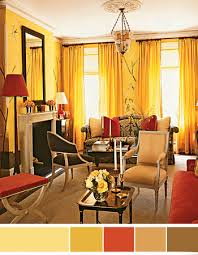 interior color schemes yellow green spring decorating yellow