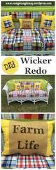How To Fix Wicker Patio Furniture - wicker redo with a fun little story too easy peasy pleasy