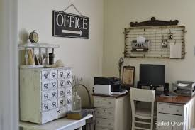 decorating an office with vintage accessories rustic crafts