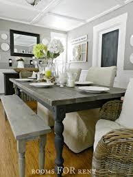 furniture grey rustic dining table farmhouse dining table
